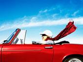 freedom in car
